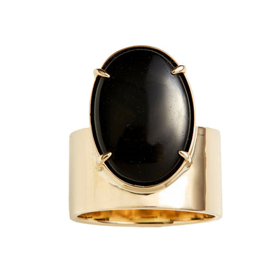 One of a Kind Monolith Ring 3 - Black Jasper