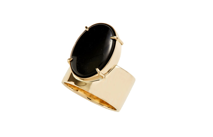 One of a Kind Monolith Ring 3 - Black Jasper - Available at Moda Operandi