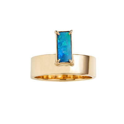 One of a Kind Monolith Ring 5 - Vertical Opal