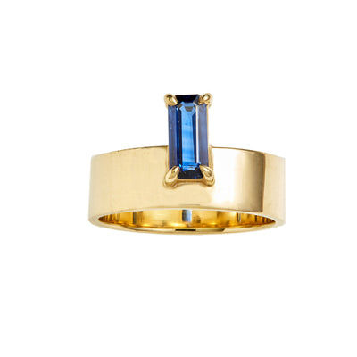 One of a Kind Monolith Ring 8 - Sapphire