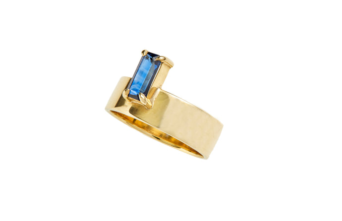 One of a Kind Monolith Ring 8 - Sapphire - Available at Moda Operandi