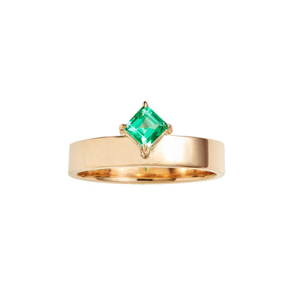 One of a Kind Monolith Ring 9 - Emerald