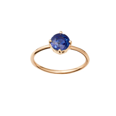 One of a Kind Large Sapphire Solitaire Ring