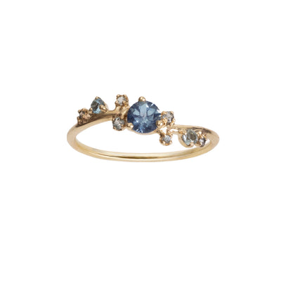 Limited Edition Organic Crossover Sapphire Ring