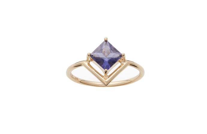 Limited Edition Nestled Princess Cut Iolite Ring