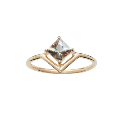 One of a Kind Nestled Princess Cut Sunstone Ring