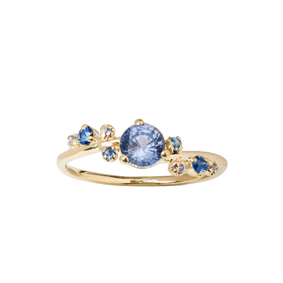 Limited Edition Medium Sapphire Organic Crossover Ring