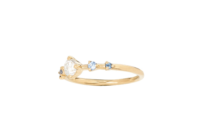 Limited Edition Diamond and Sapphire Small Horizon Ring