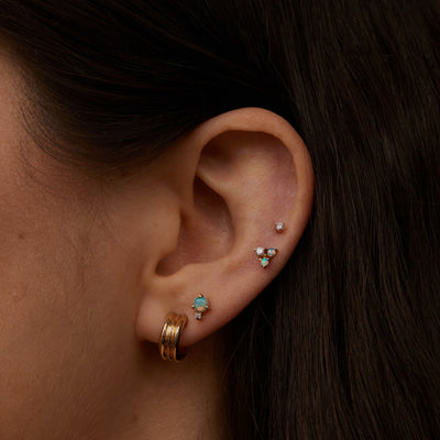 Classic Opal & Diamond Earrings