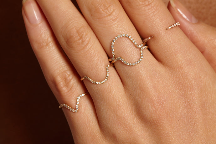 Micropave Big Arc Ring