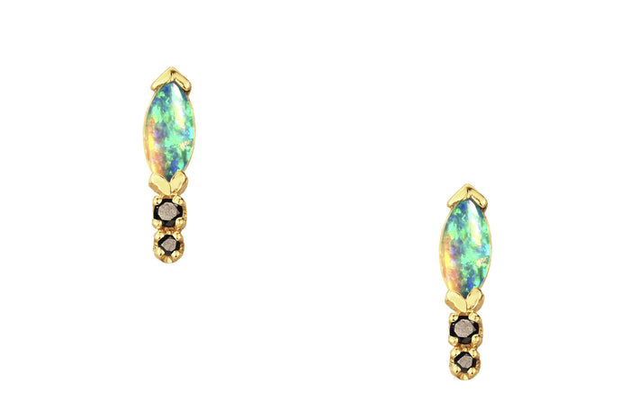 Classic Marquise and Black Diamond Earrings