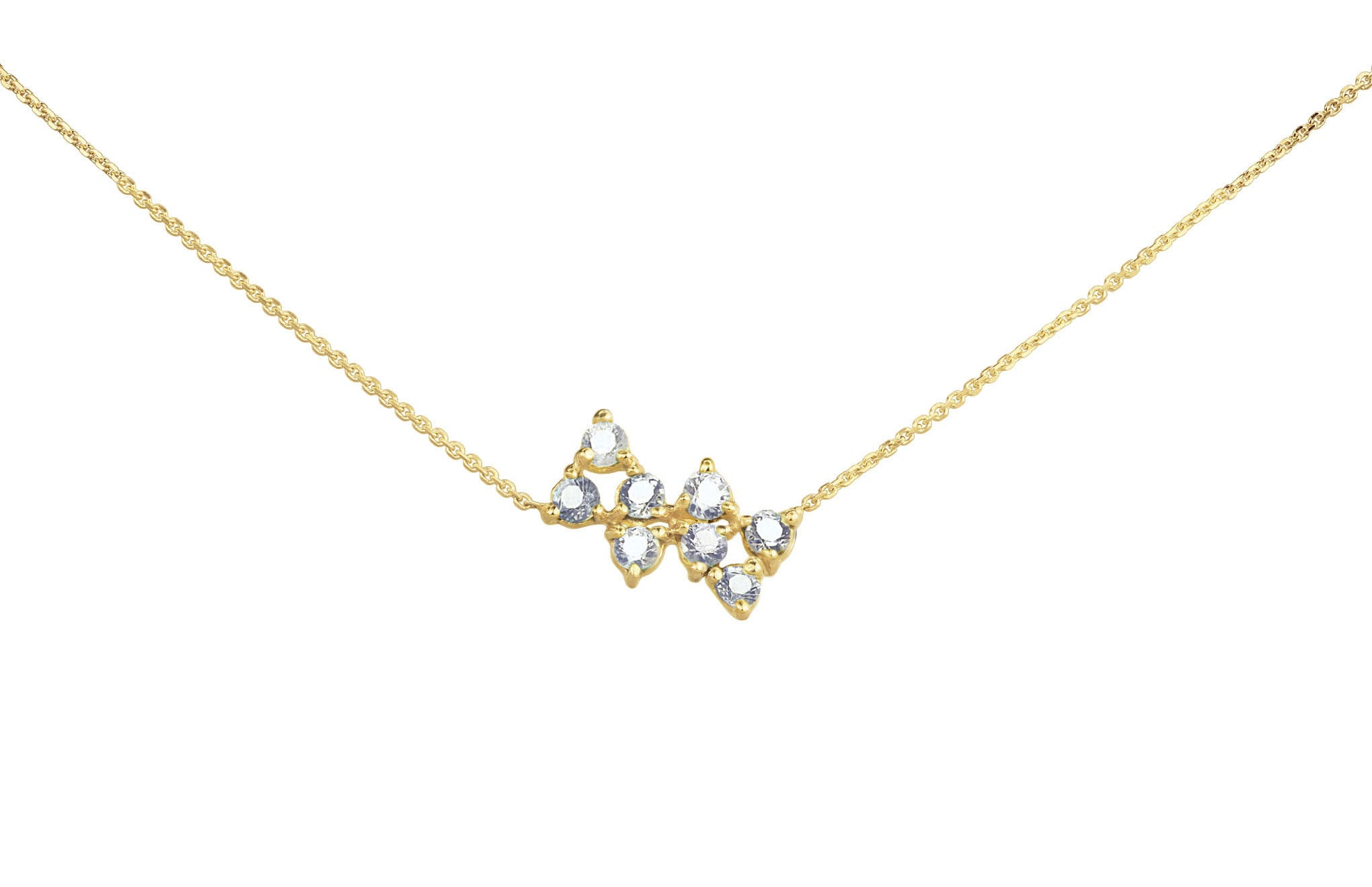 sapphire index diamond necklace
