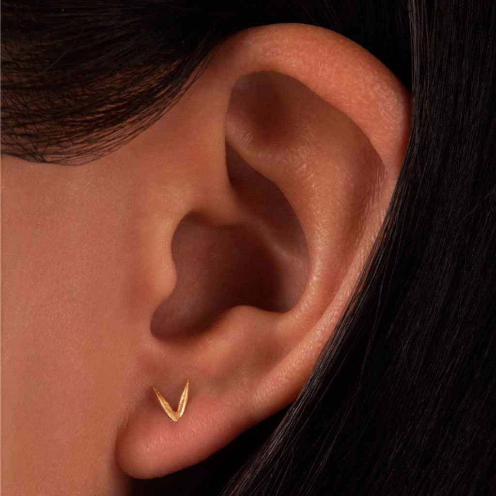 Irregular Triangle Wisp Earrings
