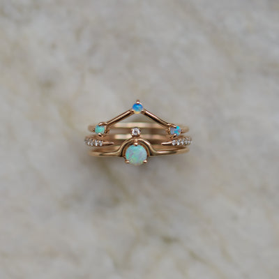 Three-Step Triangle Ring