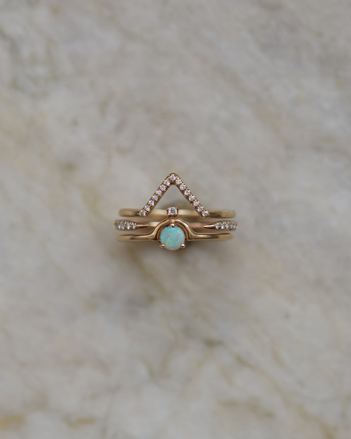 Micropave Triangle Ring