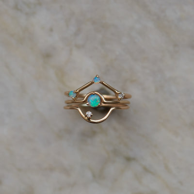 Single Nestled Opal Ring