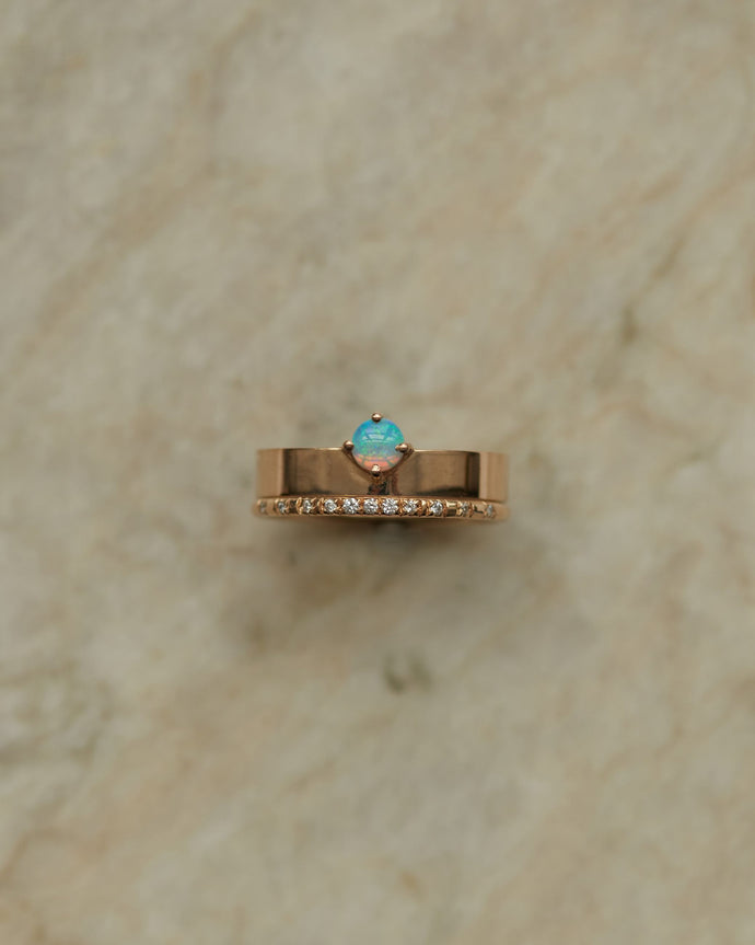 Small Opal Monolith Ring