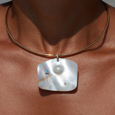 Mother of Pearl Neck Cuff