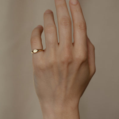 Mini Pear Signet Ring