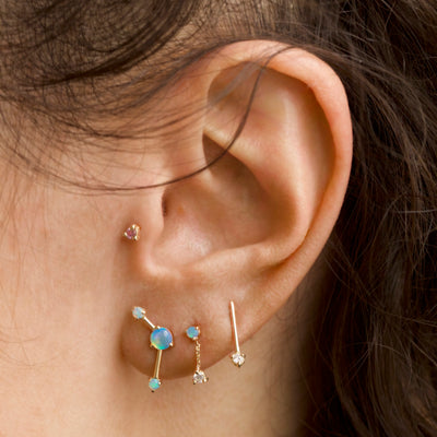 Small Two-Step Chain Earrings