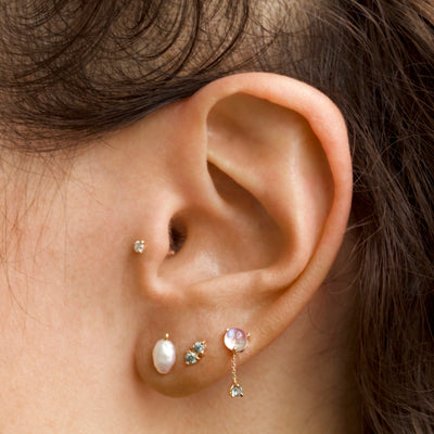 Tonal Two-Step Earrings