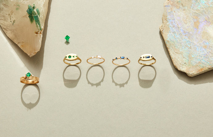 Four-Step Baguette Ring