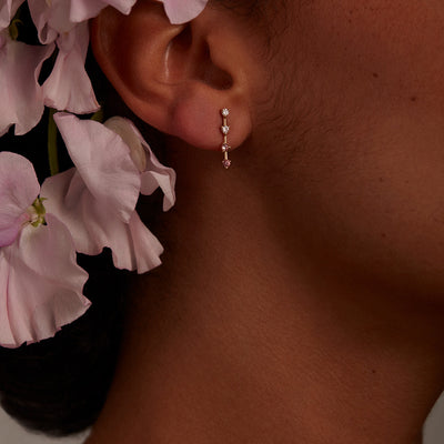 Limited Edition Blush Four-Step Gradient Earrings