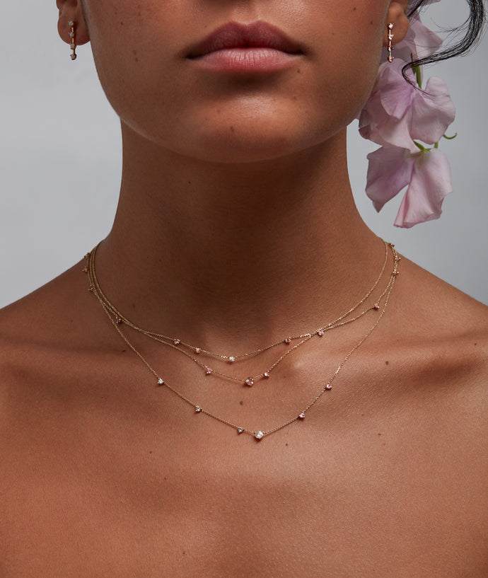 Blush Linear Chain Necklace
