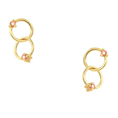 Blush Double Circle Earrings