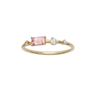 One of a Kind Blush Four-Step Ring with Blush Sapphire and Diamond - Available at ABC Home
