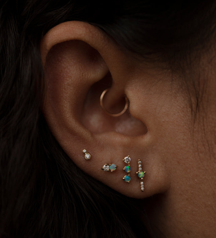 Three-Step Earrings