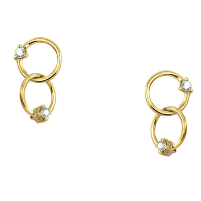 Double Circle Sapphire Earrings