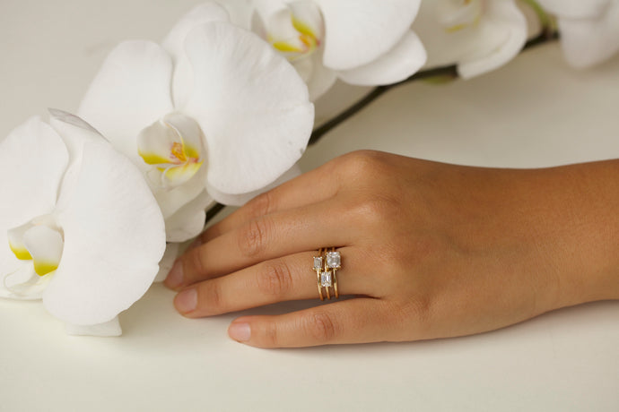 Large Emerald Cut Solitaire Ring