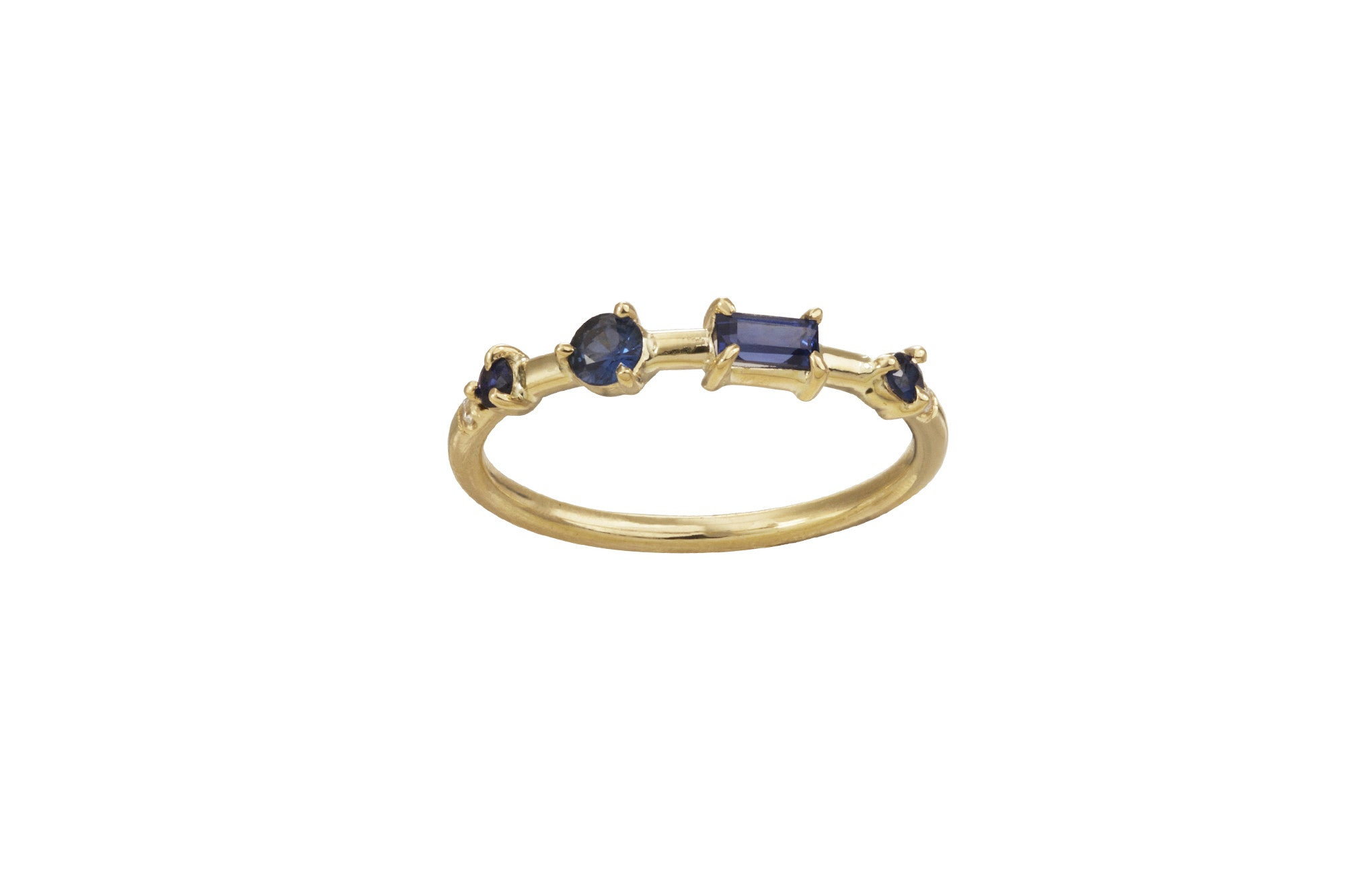 One of a Kind Four-Step Sapphire Ring