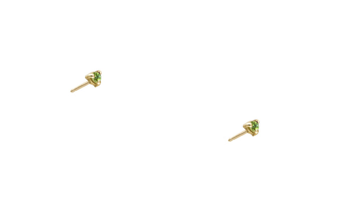 Small Bright Green Tourmaline Studs