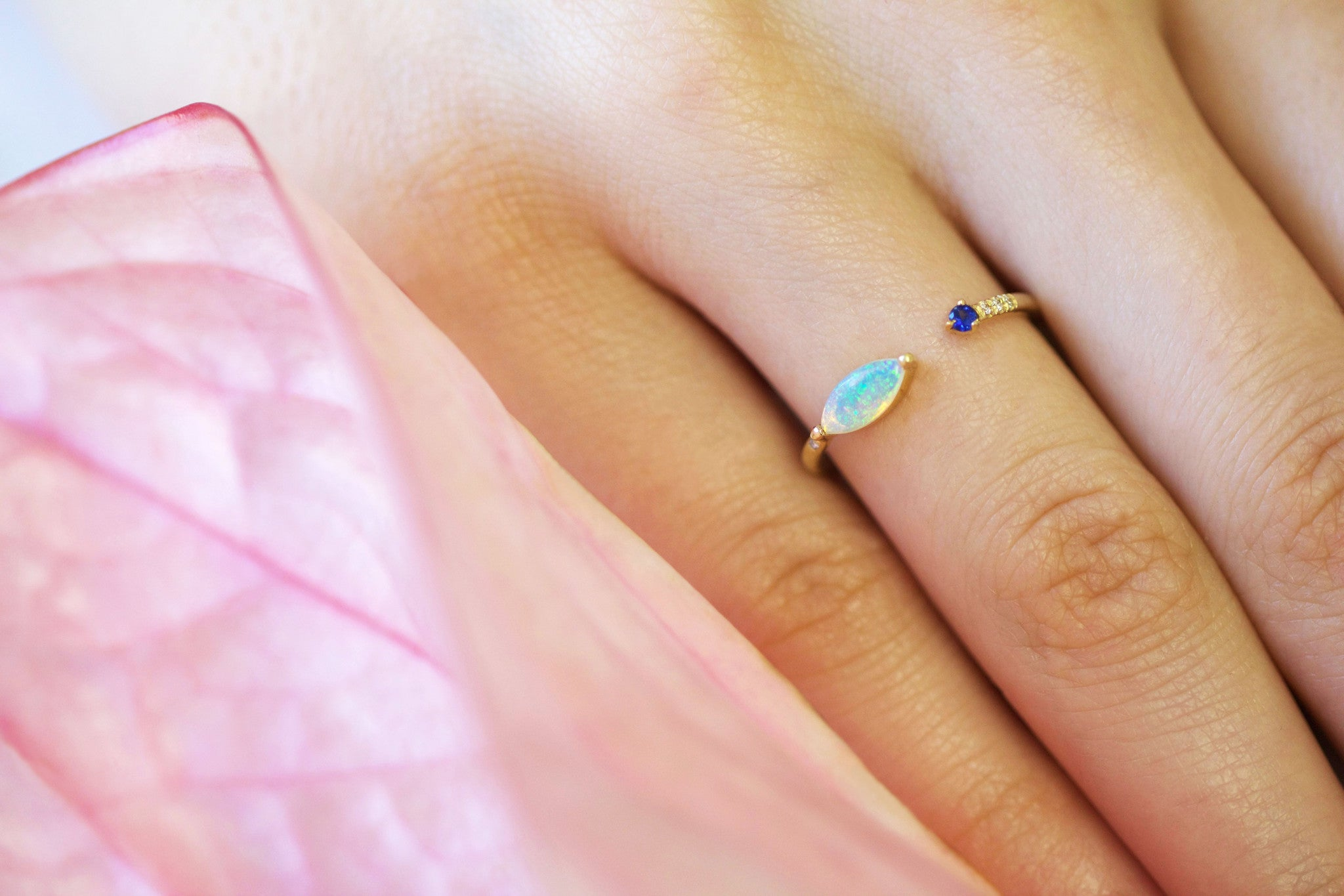 One of a Kind Open Marquise Opal Ring - Available at Blue Windows ...