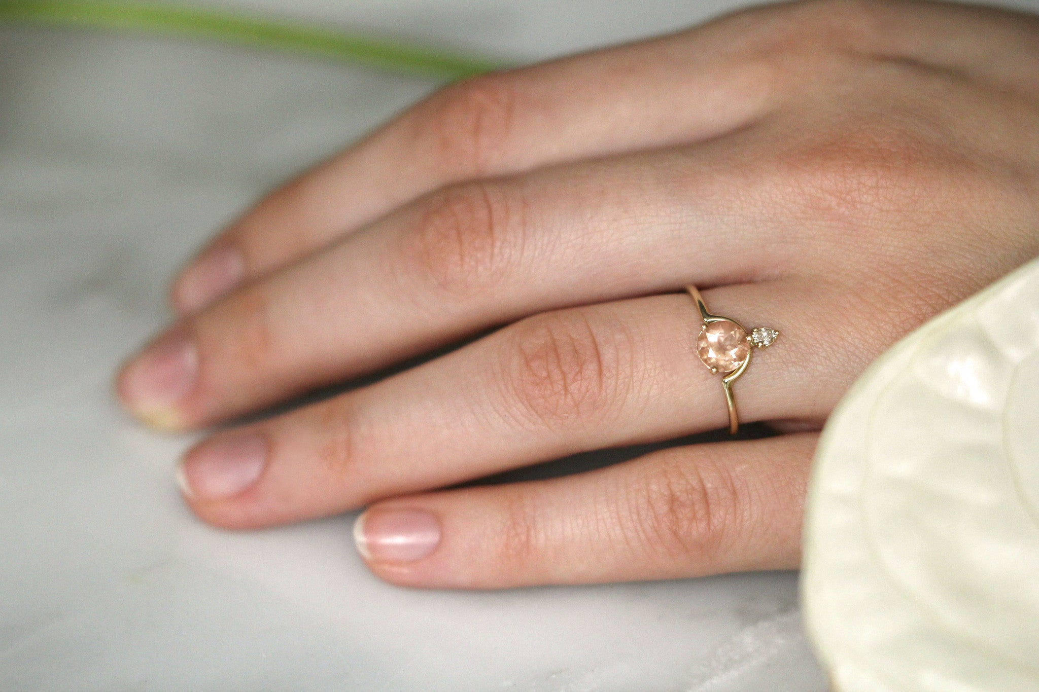 rings sun stone a oregon pin with in rose gold bezel set ring white sunstone engagement and