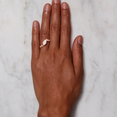 Large Marquise Crossover Ring