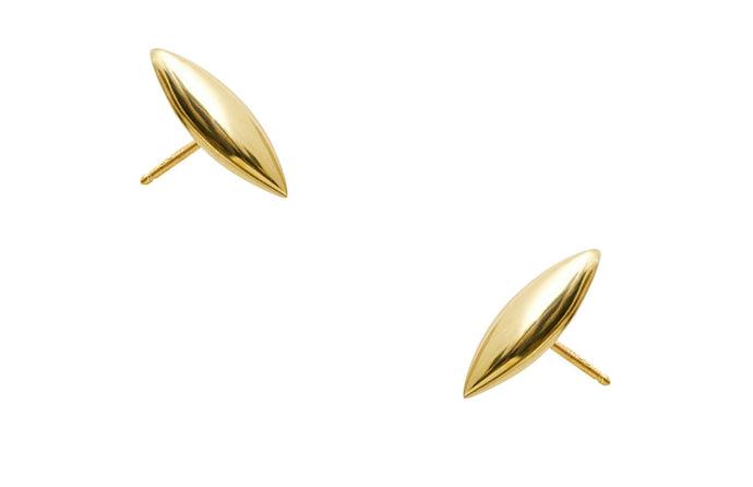 Large Gold Eye Earrings