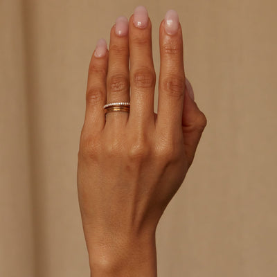Medium Demi-Pave Current Ring