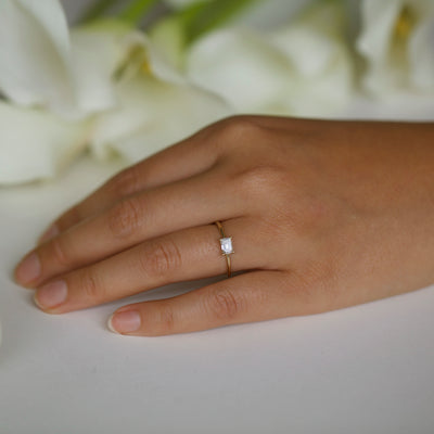 Medium Emerald Cut Solitaire Ring
