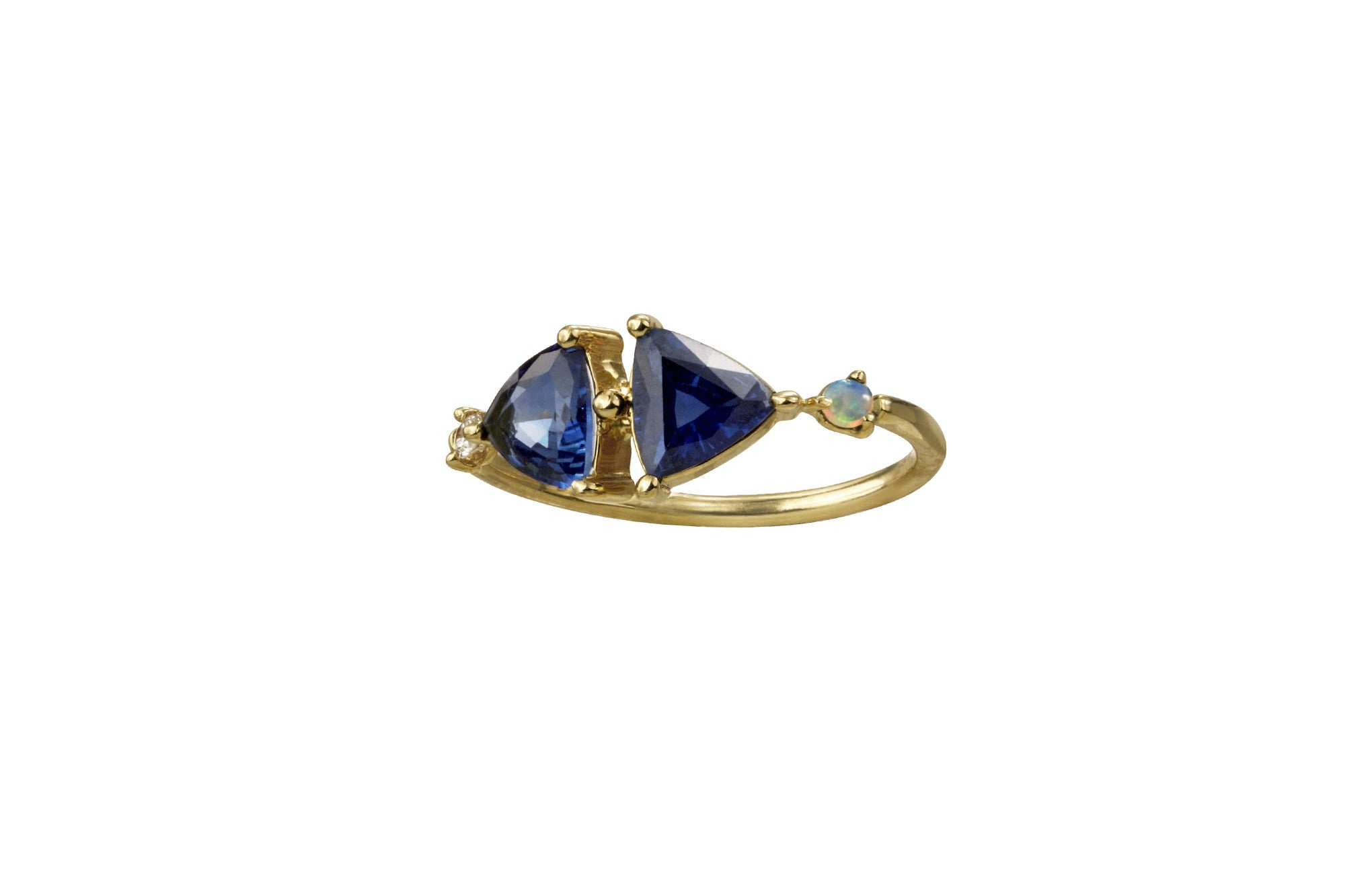 One of a Kind Mirrored Sapphire Ring - Available at Ylang 23