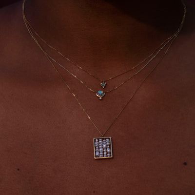 Nestled Opal and Diamond Necklace - Web Exclusive