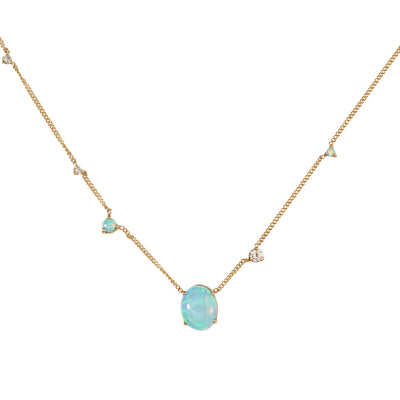 One of a Kind Linear Opal Necklace