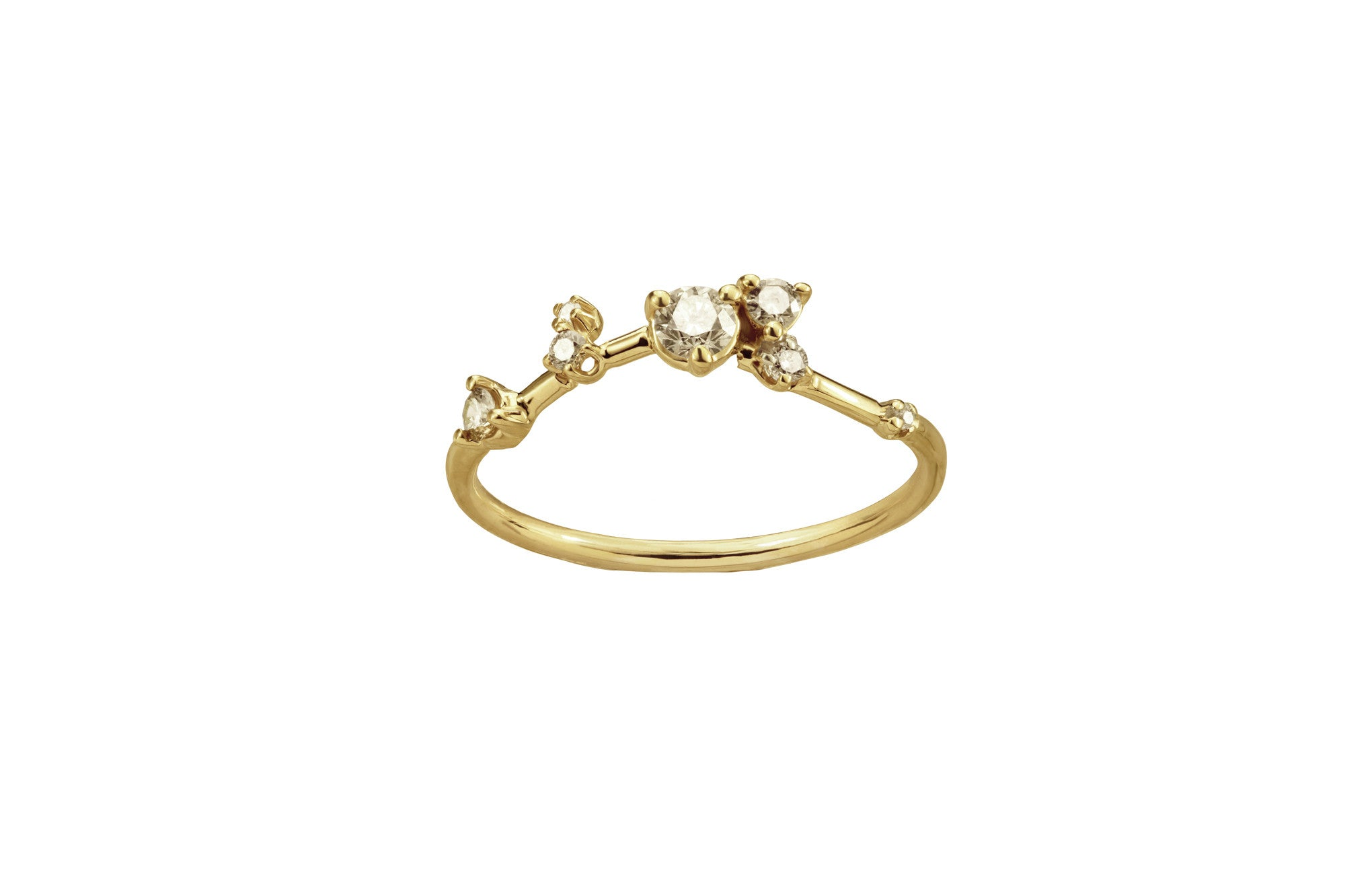 gold rings engagement product champagne rose charm centres diamond ring