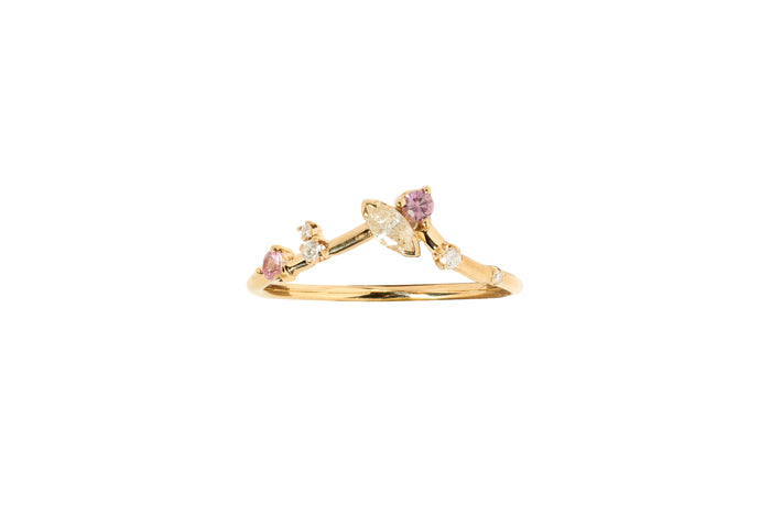 One of a Kind Marquise Triangle Ring