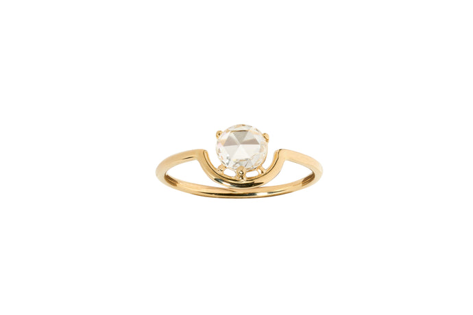 One of a Kind Single Nestled Diamond Ring