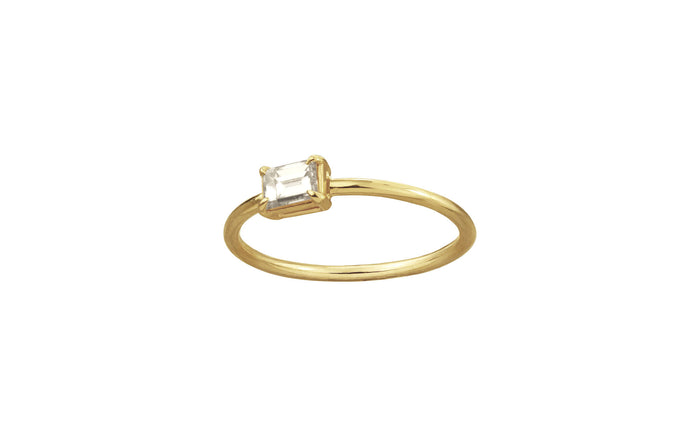 One of a Kind Solitaire Baguette Ring