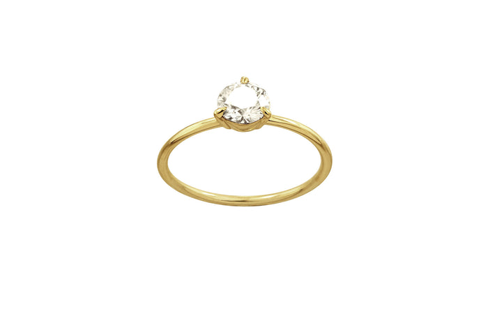 One of a Kind Solitaire Diamond Ring