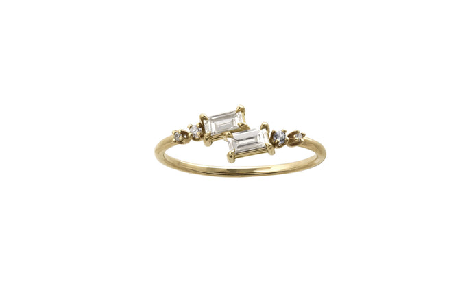One of a Kind Small Diagonal Baguette Ring
